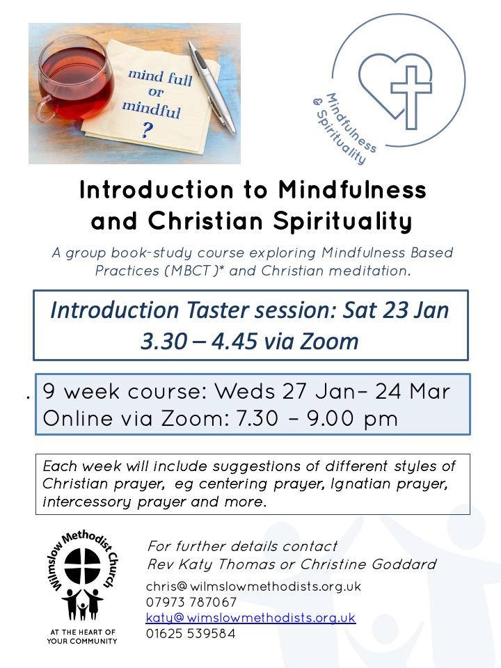 Mindfulness & Christian Spirituality (Online) @ Wilmslow Methodist Church