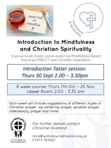 Mindfulness & Christian Spirituality @ Wilmslow Methodist Church